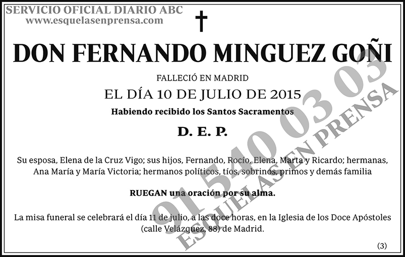Fernando Minguez Goñi